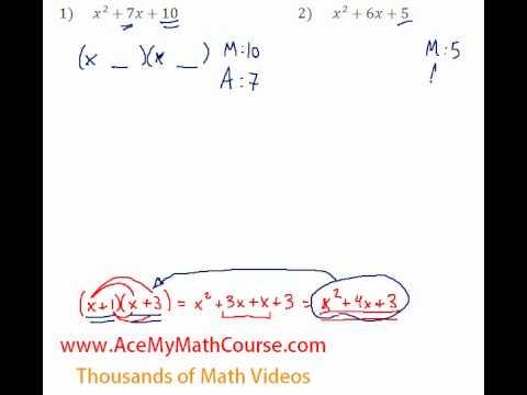 Polynomials - Factoring Trinomials #1-2