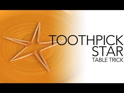 Toothpick Star Table Trick - Sick Science! #009
