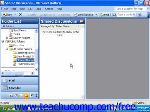 Outlook 2003 Tutorial Copying Public Folders Microsoft Training Lesson 10.8
