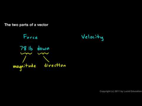 Physical Science 1.7b - Two Parts of a Vector