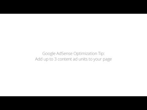 Optimization Tip: Add up to 3 content ad units to your page