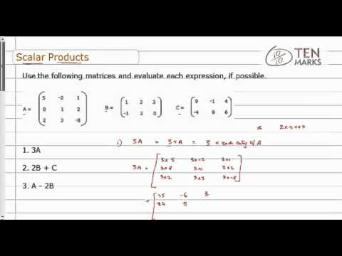Scalar Products of Matrices