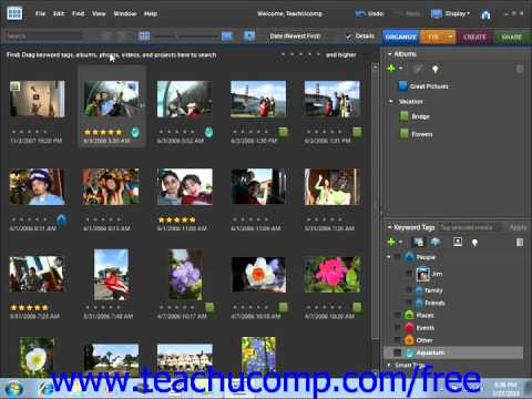 Photoshop Elements 9.0 Tutorial Searching & Finding Your Images Adobe Training Lesson 2.19