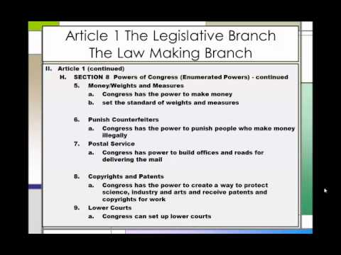 The Constitution An Outline Part 1