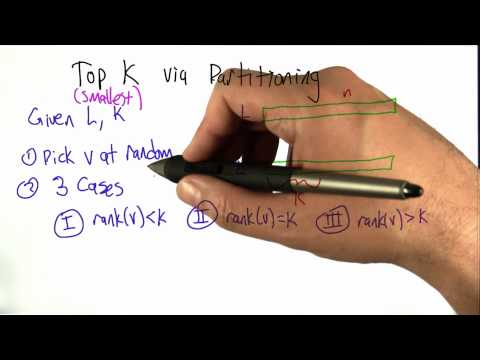 Top K via Partitioning - Algorithms - Statistics - Udacity
