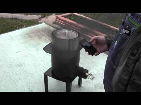 rocket stove,boiling water