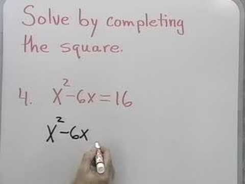Quadratics:  Completing the Square