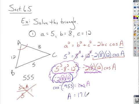 Trigonometry - Law of Cosines