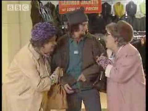 Old ladies at the supermarket - BBC comedy