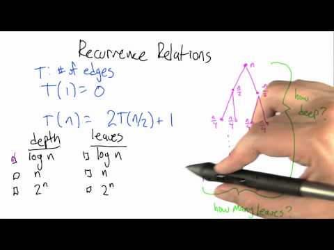 Recurrence Relation Solution - Algorithms - Graphs - Udacity