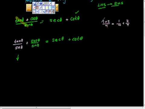 Proving Trigonometric Identities Part II Precalculus.mp4