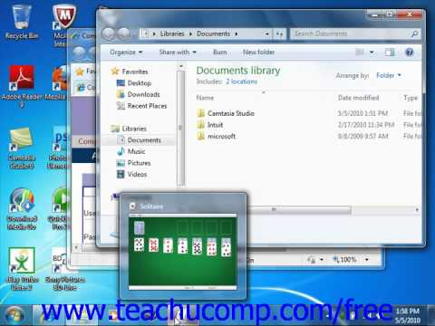 Windows 7 Tutorial Using Windows Microsoft Training Lesson 1.5