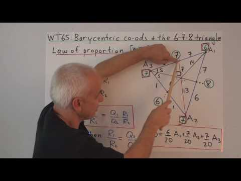 WT65: Barycentric coordinates and the 6-7-8 triangle