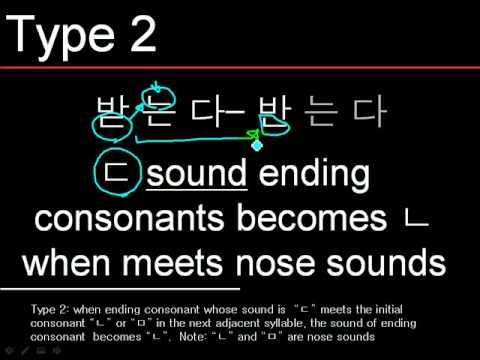 Read Korean Words #2 Nasalization 비음화