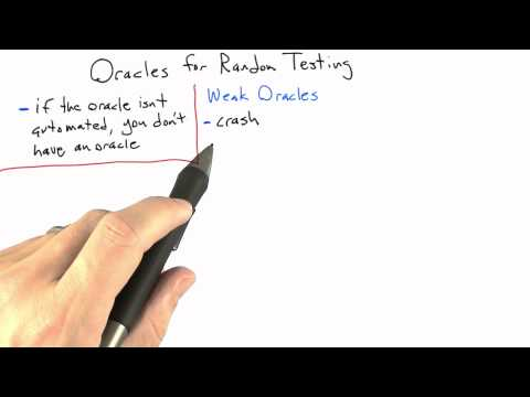 Oracles - Software Testing - Random Testing - Udacity