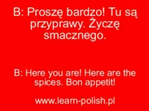 Polish Phrases For The Restaurant With Sound
