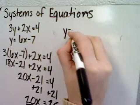Solving Systems of Equations Using Substitution II