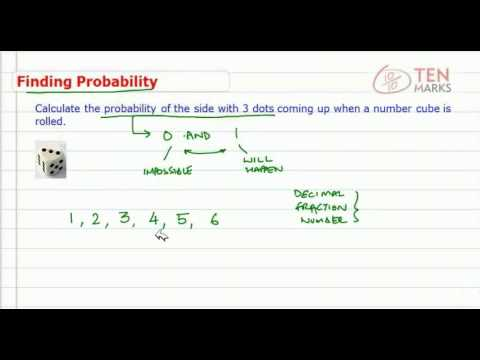 Probability of an Event (Number Cube)