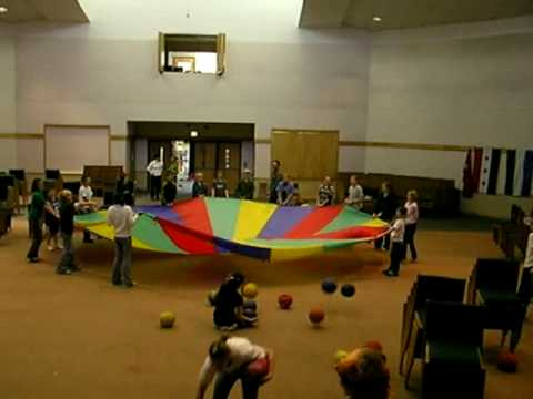 Parachute ball game