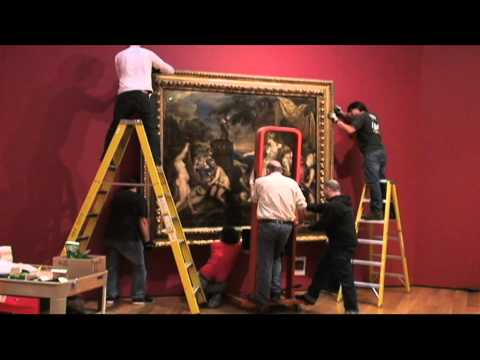 "Unveiling and Hanging Titian's ""Diana and Callisto"" at the High Museum"