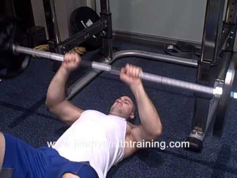 Narrow Grip Barbell Floor Press