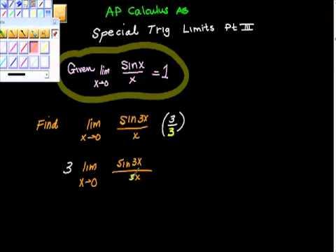 Special Trig Limits Ap Calculus AB Pt III