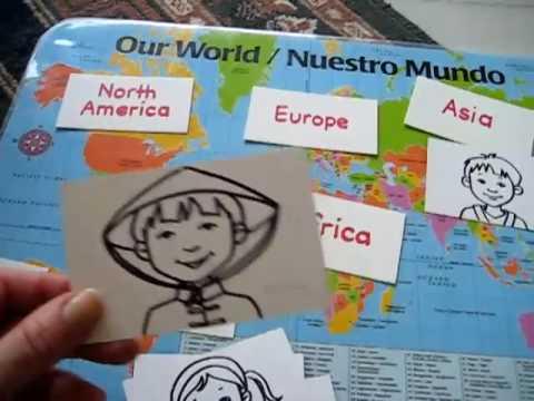 Preschool - Social Studies. Map of the world