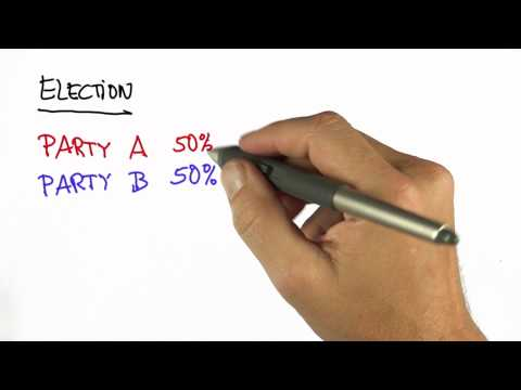 Voting 1 - Intro to Statistics - Pie Charts - Udacity
