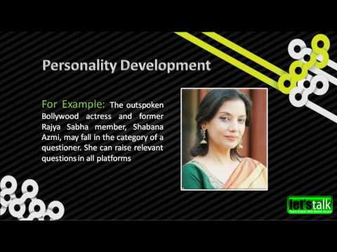 Personality Development Techniques - www.letstalk.co.in