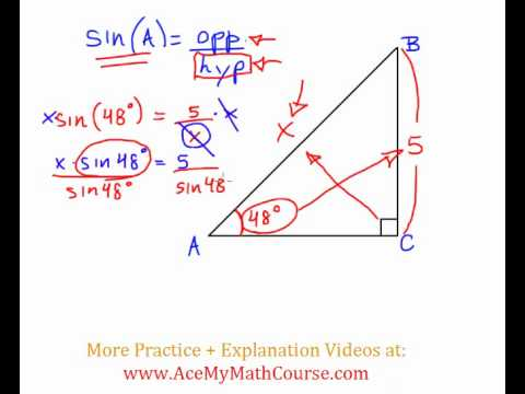 Sine Ratio - Question #3 (Intro Trig)