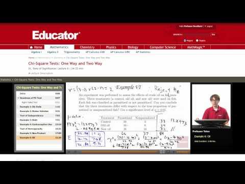 Statistics: Chi Squared Test