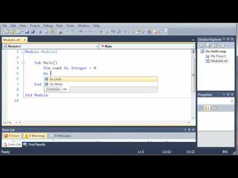 Visual Basic Tutorial - 30 - Do Until Loop