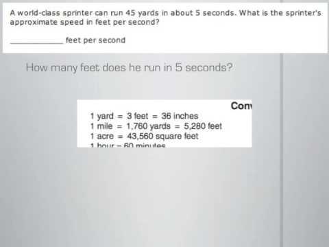 World Class Sprinter Math Problem