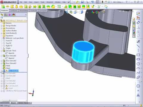 Solidworks 2012 Tutorial | Editing Part 2/2