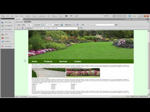 Setting up layout and formatting CSS (3) - Coyote Landscaping - Part 12