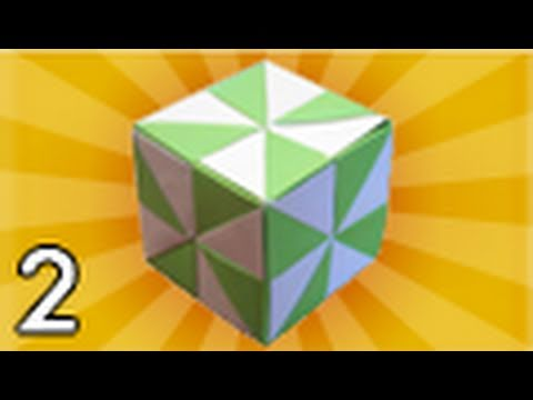 Origami Pinwheel Cube (Folding Instructions) ~Part Two~
