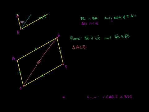 Proof - Opposite Sides of Parallelogram Congruent