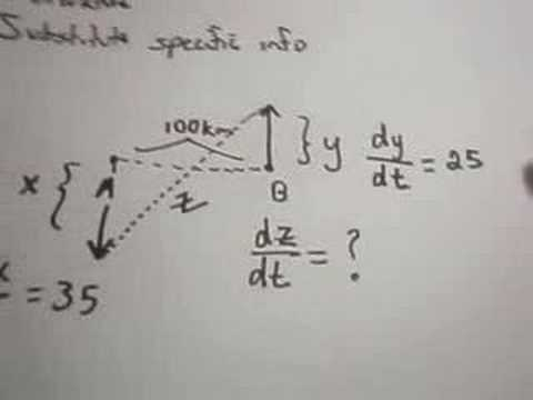 Related Rates #1 Problem Using Implicit Differentiation