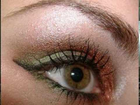 SEXY WINTER/FALL EYES w/ MAC make up coppers & greens