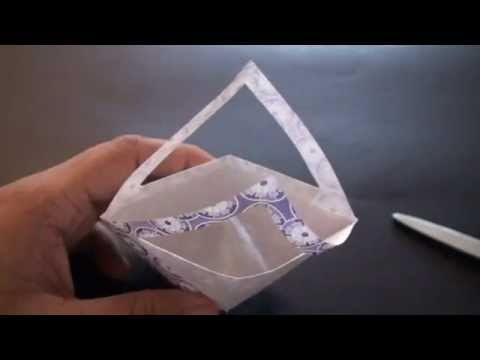 Origami Daily - 274 Flower Bag (Basket) - TCGames [HD]