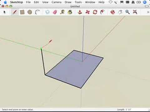 SketchUp: Giving instructions with the drawing axes