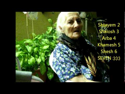 Polyglot Grandma counting in Hebrew