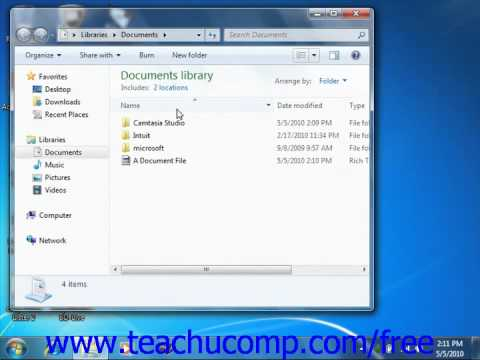 Windows 7 Tutorial Sorting Folder Contents Microsoft Training Lesson 1.9