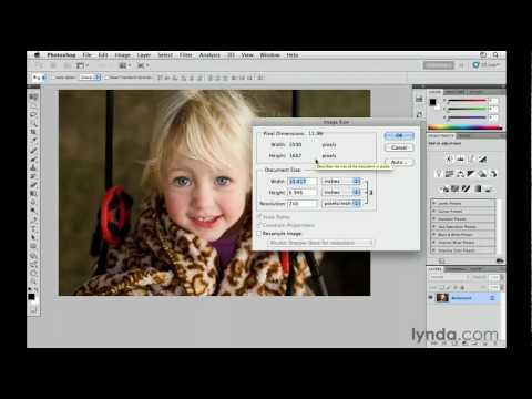 Photoshop CS5: How to resize digital images | lynda.com tutorial