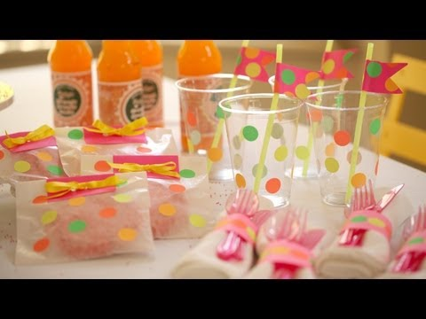 Neon Party Decorations: How to Make || Kin DIY