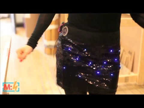 Twinkle LED Dance Party Skirt on Make: Live ep22