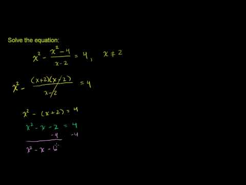 Solving Rational Equations 3