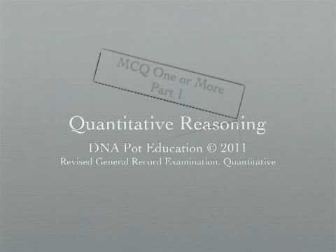 Revised GRE Quantitative Section MCQ2 Part 1