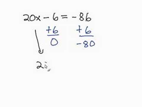 Solving a Two-Step Equation