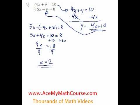 Systems - Solving by Substitution #3